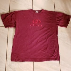 Gucci men's Embroidered T-shirt Vintage 90s XL